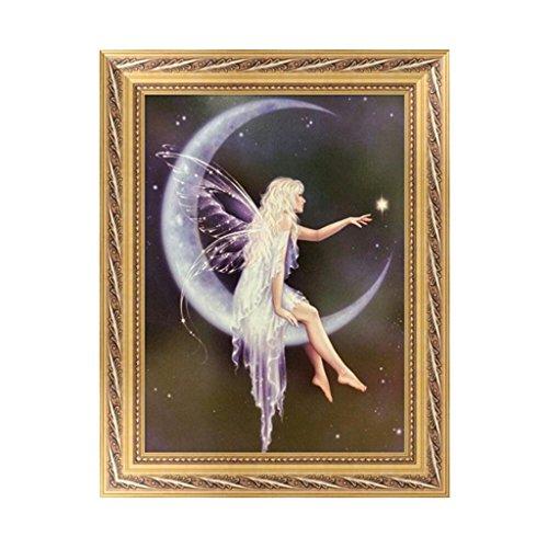 BushYou 5D Diamond Embroidery Angel Butterfly Kits Fairy Painting Tools Cross Stitch DIY Craft Home (Fairy Angel Art)