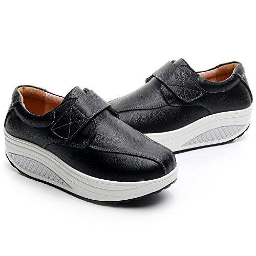 Cuneo Scarpe Carino Nero Loop Sneaker Donna Comodo Rismart Pelle Hook amp; Addestratore 14zqAAC5
