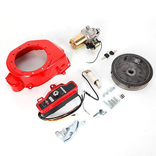 Electric Start Kit Flywheel Starter Motor Key Switch Coil Ignition Box Fan Cover For Honda GX160 GX200 US Stock