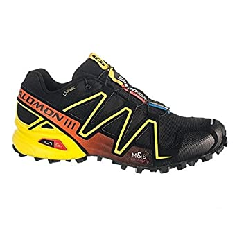 75433c8ef23 Salomon Speedcross 3 GTX Mens Trail Running Shoes Black/Yellow UK 9.5 EU  44: Amazon.co.uk: Clothing
