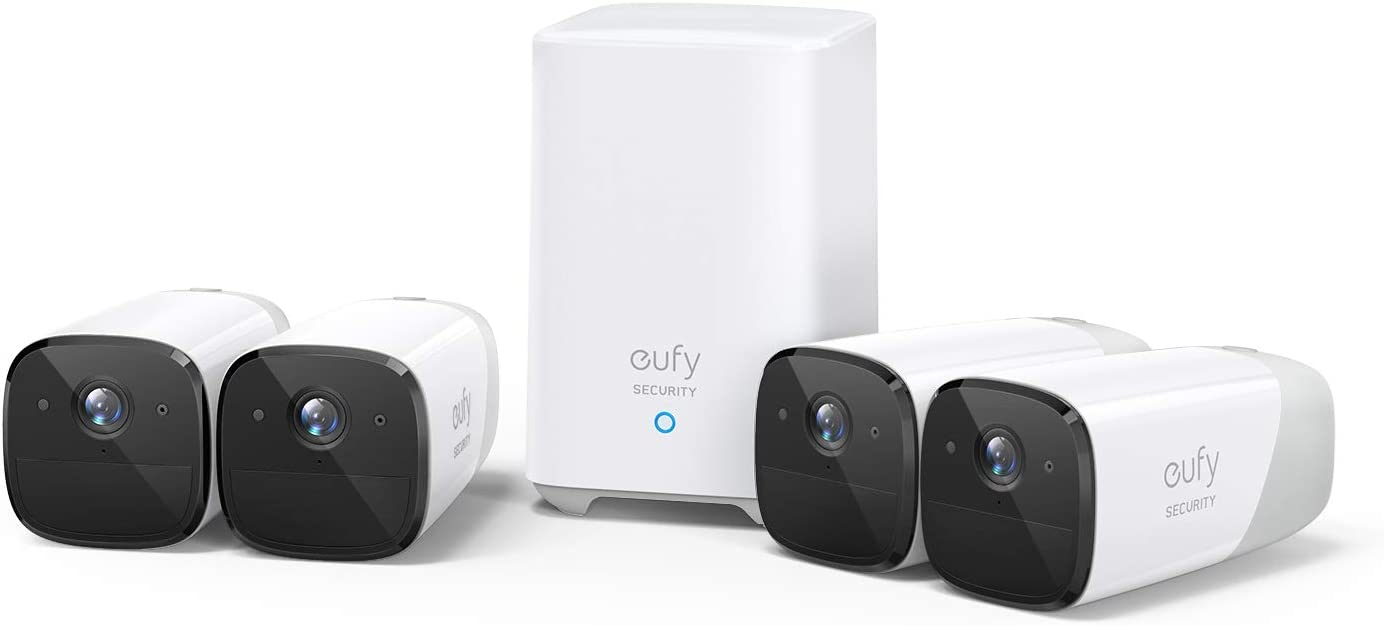 eufy Security, eufyCam 2 Wireless Home Security Camera System, 365-Day Battery Life, HomeKit Compatibility, HD 1080p, IP67 Weatherproof, Night Vision, 4-Cam Kit, No Monthly Fee