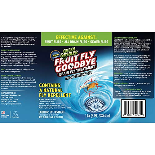 Green Gobbler Fruit Fly Goodbye Gel Drain Treatment