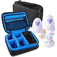 Protective EVA Storage Case (in Blue) for Storing your Hatchimals Colleggtibles Toys - by DURAGADGET