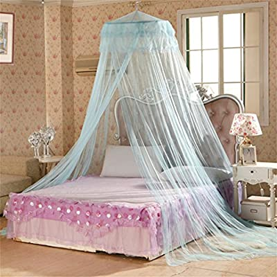 Acamifashion Elegant Round Bed Canopy Princess Mosquito Net Curtain Dome