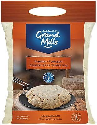 GRAND MILL Chakki Atta, 5 Kg (Pack of 1): Amazon com