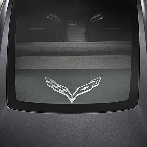 Eckler's Premier Quality Products 25-333116 - Corvette Cargo Security Shade, Black, Upper and Lower, With Crossed Flags Logo