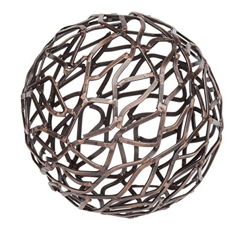 Bronze Sphere - PRINZ Small Artisan Whitman Antique Bronze Metal Sphere