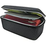 co2CREA(TM) Black EVA Semi-hard Storage Travel Case Carry Bag Protective Skin for Logitech Ultimate Ears UE BOOM 1 and 2 (I/II Gen) Wireless Bluetooth Speaker (Storage Case)