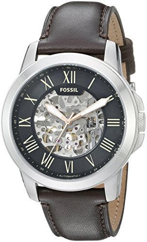 Fossil Men's ME3100Grant Analog Display Automatic Self-Wind Brown Watch ()
