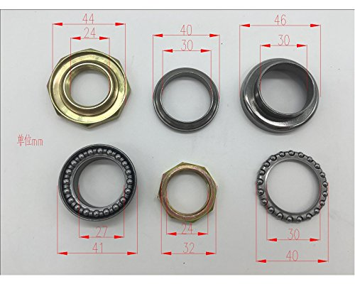 Mega Brands New Universal Fit Steering Stem Bearing kit Bearing Set for Taotao Icebear Roketa Jonway Sunny Shenke Chuanl Flying Scooter GY6 49cc 50cc 125cc 150cc Chinese Scooter (Steering Bearing Set)