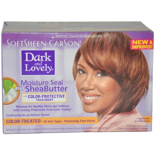 Moisture Seal Plus Shea Butter No-Lye Relaxer Kit Color Treated Hair Color Women by Dark And Lovely, 1 Count by Dark & Lovely