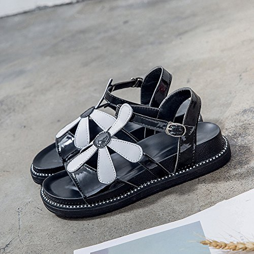 EU Playa Dama 35 Shoes Moda 35 YMFIE Toe Plano Antideslizante Verano Toe Ocio Sandalias EU Fondo aHHCwFzqO