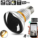 16GB 720P HD WiFi Hidden Security Camera LED Light Bulb Camcorder with IR Night Vision, Support Remote View, Motion Activated and 24 Hours Recording