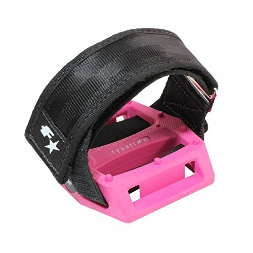 Fyxation Gates Pedal Strap Kit with Pink Pedal and Black Straps PD1197