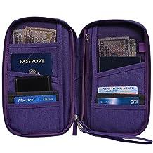 Hopsooken Travel Wallet & Passport Holder Organizer Rfid Blocking ID Card Pouch(Purple)
