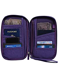 Hopsooken Travel Wallet & Passport Holder Organizer Rfid Blocking ID Card Pouch(Purple)