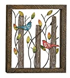 Birds Rustic Metal and Wood Indoor Outdoor Wall Art Décor