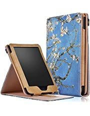 Kobo Ereader Clara HD Case, Gylint Premium Leather Business Slim Folding Stand Folio Cover with Auto Wake/Sleep Multiple Viewing Angles for Kobo Ereader Clara HD 6.0i Tablet (Plum)