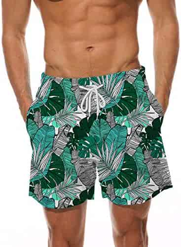 18649d365e AIDEAONE Mens Swim Trunks Quick Dry Beach Board Shorts Waterproof Swim  Shorts Bathing Suits with Mesh