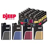 Djeep Soft Touch Full Size Lighters, 24 Lighters Per Tray D Jeep