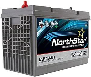 Amazon.com: NorthStar Ultra High Performance Grupo 31 AGM batería: Automotive
