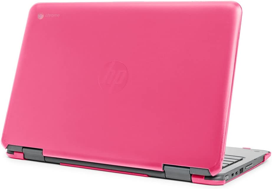 "mCover Hard Shell Case for 11.6"" HP Chromebook X360 11 G1 EE laptops (NOT Compatible with HP C11 G4EE / G5EE / G6EE) (HP CX360 11 G1EE Pink)"