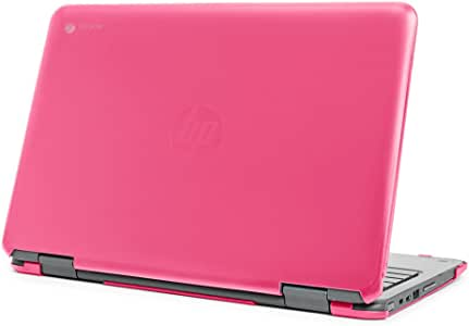 """mCover Hard Shell Case for 11.6"""" HP Chromebook X360 11 G1 EE laptops (NOT Compatible with HP C11 G4EE / G5EE / G6EE) (HP CX360 11 G1EE Pink)"""