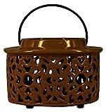 True Grit Fine Ceramic Tea Light Decorative Candlestick Holder Mediterranean Style, Round Shape