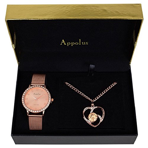 (Appolus Watch Necklace Set - Gifts for Women Mom Girlfriend Wife Anniversary Birthday Graduation - The)