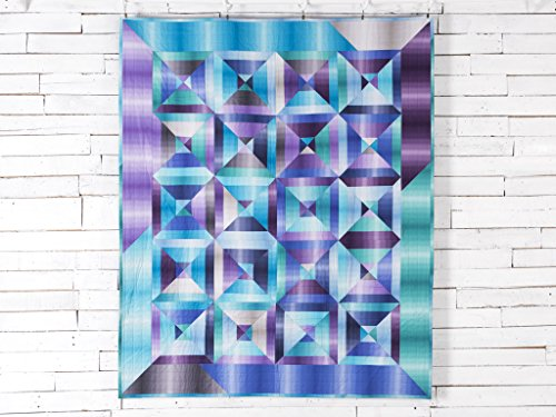Craftsy Boundless Blenders Ombre Split Square Jewel Quilt Kit