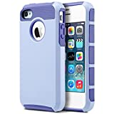 4S Case,iPhone 4S Case, iPhone 4 Case,ULAK Dual Layer Hybrid Slim Hard Case for Apple iPhone 4S & iPhone 4 with Hard PC Cover and Soft Inner TPU (Purple)