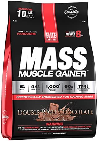 Elite Labs USA Mass Muscle Gainer, Double Rich Chocolate, 10.16