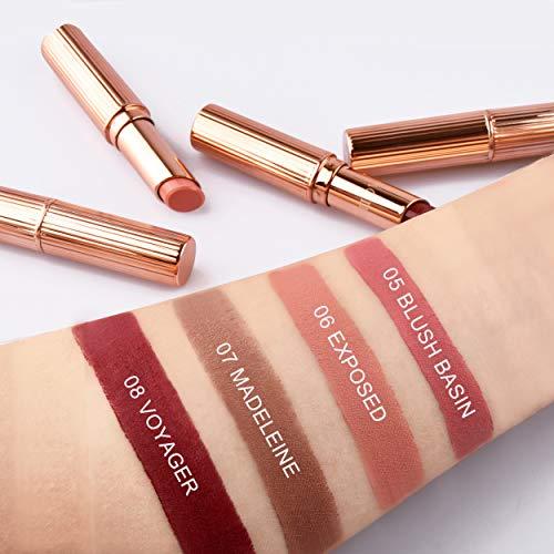 Matte Lipstick Set, NAQIER 4PCS Nude Moisturizer Smooth Lip Stick, lipstick Gift sets for women