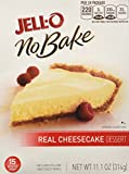 Jell-O, No-Bake, Real Cheesecake Dessert, 11.1-Ounce Box (Pack of 4)