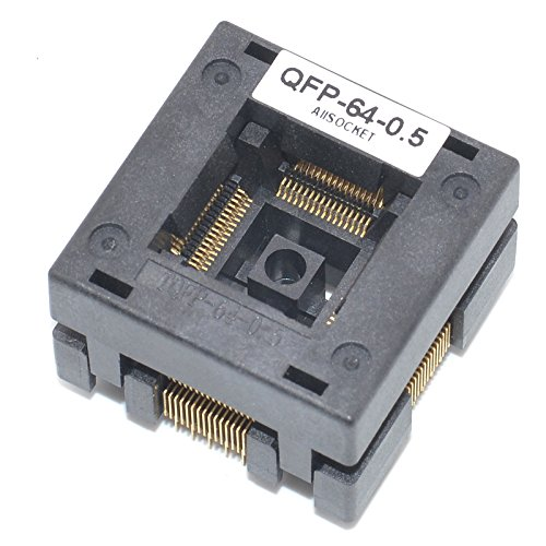 ALLSOCKET QFP64-0.5 Socket IC Burn-in Tesing Socket OTQ-64-0.5-01 0.5mm Pitch 10x10mm IC Dimension Open-top Socket Soldering Version(QFP64-0.5-STP) by ALLSOCKET (Image #2)