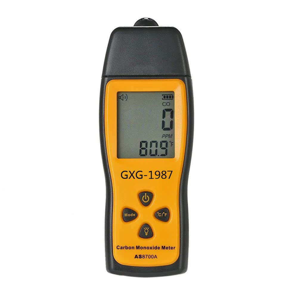 GXG-1987 Handheld Carbon Monoxide Meter with High Precision CO Gas Tester Monitor Detector Gauge LCD Display Sound and Light Alarm 0-1000ppm by GXG-1987