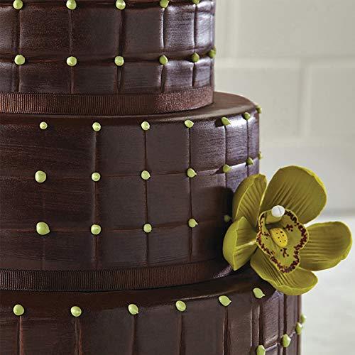 BESTOMZ Fondant Impression Mat Mould, 4-Piece Quilted Fondant Imprint Mat Set - Plastic - Cake Decorating Supplies for Wedding Cake Decoration Tools