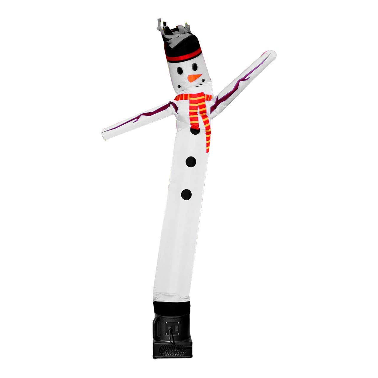 LookOurWay Snowman 6ft Tall Air Dancers Inflatable Tube Complete Set with 1/4 HP Sky Dancer Blower by LookOurWay
