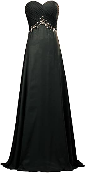 15f3296d17f ANTS Women s Formal Chiffon Prom Dresses Long Evening Gown Size 2 US Black