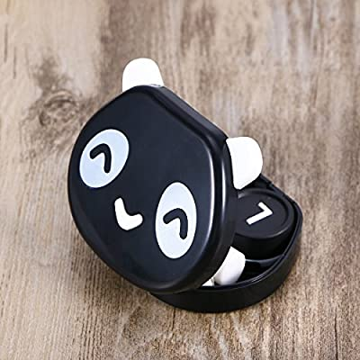 Caja de Lentes de Contacto Kit de Viaje ROSENICE Estuche Lentillas con Pinza Aplicador Palo Botella de Solución Espejo Incorporado (Forma de Panda de Color Aleatorio): Amazon.es: Salud y cuidado personal
