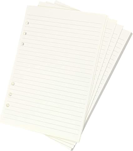 50X A6 6-Hole Ruled Loose Leaf PaperPlanner Note Book Filler Paper Diary Book⭐