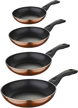 Bergner Classic Set 4pcs sartenes Ø20/22/24/26 cms, Aluminio Forjado inducción Brown Neon Acero Inoxidable, Marrón: Amazon.es: Hogar