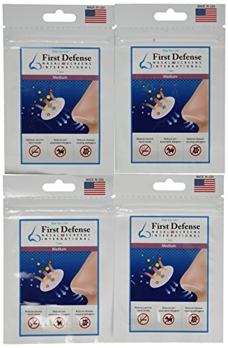 First Defense Nasal Screens (4 Pack), Medium