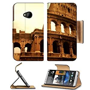 Architecture Rome Colosseum Roman Landmark HTC One M7 Flip Cover Case with Card Holder Customized Made to Order Support Ready Premium Deluxe Pu Leather 5 11/16 inch (145mm) x 2 15/16 inch (75mm) x 9/16 inch (14mm) MSD HTC One Professional Cases Accessorie