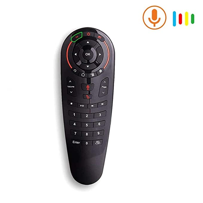 Glamaxy Wireless Remote Control Voice Air Mouse with 33 Keys   IR Learning Gyro Sensing Smart Remote