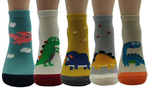 JJMax Boys Dinosaur Socks Collections (Woven Socks Kids)