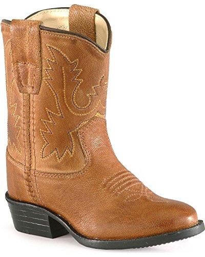 Old West Toddler-Boys' Cowboy Boot Tan 7 D(M) US
