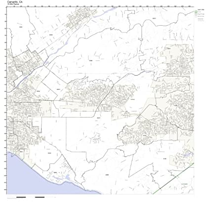 Amazon.com: Camarillo, CA ZIP Code Map Laminated: Home & Kitchen