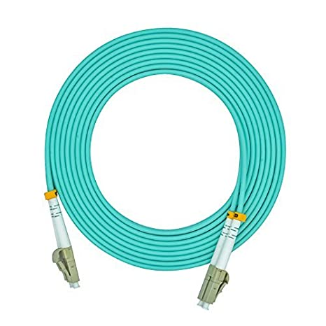 4m, 2.0mm LC to LC OM3 10G 50//125 Duplex Multimode Fiber Optic Patch Cable