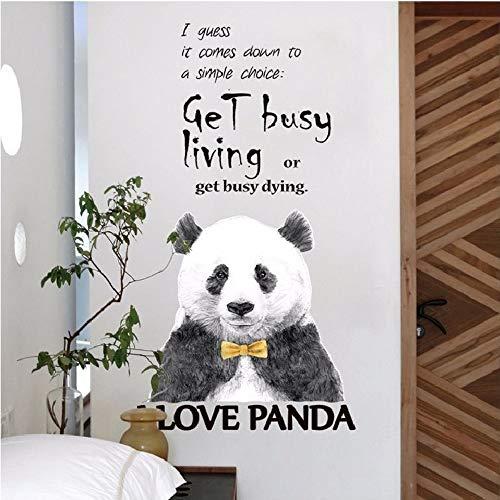 suuyar Ocupado Panda Pegatinas De Pared Decoración del Hogar para La Habitación Sofá Fondo PVC Avión Animal Mural Ventana...